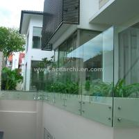 Buy cheap Customized Glass Decking Standoff Railing with Stainless Steel Handrail product
