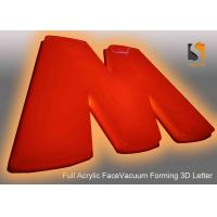 Buy cheap 78cm Height Plastic Building Sign Letter With Vacumed 5cm  Flat Shape Face Orange Color product