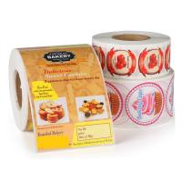 Buy cheap Custom Roll Safe Food Packaging Stickers / Strong Sticky Self Adhesive Stickers product