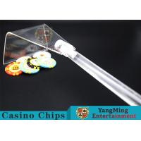 Buy cheap Adjustable Casino Game Accessories Poker Chip Rake Built - In Detachable Design product
