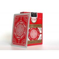 Quality Luxury Casino Playing Cards 310gsm German Black Core Paper Linen Finish for sale