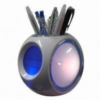 Buy cheap Color Lights Calendar Pen Holders with Alarm Clock, Music Alarm and Snooze Mode product