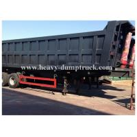 Buy cheap 3 axles side dumper trailer / hydraulic tipper trailer in Algeria 100 tons Capacity product