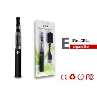 Buy cheap Custom 1.6ml CE4 EGO Electronic Cigarette / Black eGo Clearomizer 14mm For Lady product