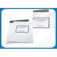 Buy cheap White Puncture Resistance Polythene Envelopes , Waterproof Self-Seal Plastic Shipping Mailers product