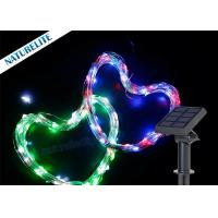 China Christmas Copper Wire String Solar Led Garden Lights 60 LED / M Waterproof Shape Light on sale