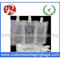 Buy cheap Transparent Stand Up Pouches With Spout Top , Clear spout pouches product