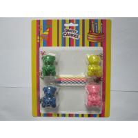 Buy cheap 4pcs Mix Color Spiral Birthday Candles Add 4pcs Bear Shape Toy For Decoration / Play product