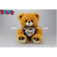 "Buy cheap 2014 Hot Sale 12"" Corporate gift Brown Stuffed Teddy Bear With Heart Pillow product"