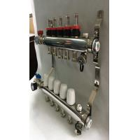 Quality SS 304  Water And Gas Flow Meter Hydronic Heating Manifold For House for sale