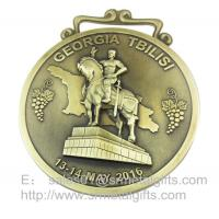 China 3D Embossed Die cast Award medals, Highly Detailed 3D metal medal with ribbon wholesale