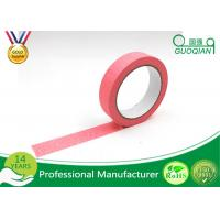 Buy cheap Office Labeling Adhesive Stickers Easy Tear Decorative Craft Tape Pink / Purple / Red product