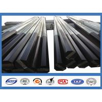Buy cheap Black Tar Painted Hot Dip Galvanized Steel Pole Coating Octagonal Pole product