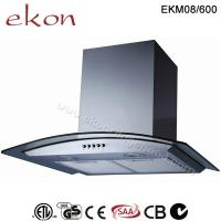 Buy cheap CE CB SAA GS Approved 60cm Tempered Glass Wall Mount Kitchen Hood product