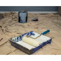 Buy cheap Natural White Painters Drop Cloth Moisture Proof 5 X 5ft With LDPE Film Coated product