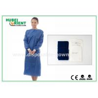 China XL SMS Nonwoven Disposable Surgical Gowns with Knitted Wrists , CE ISO on sale