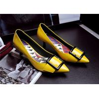 Buy cheap Spring Comfortable Trendy Shoes Pointed Low Heels For Office Ladies With Square Buckle product