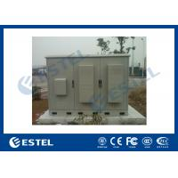 3 Compartments Outdoor Integrated Base Station Cabinet For Installation Equipment And Battery