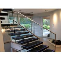 Buy cheap Safety Internal Modern Straight Staircase , Wood And Glass Staircase Designs product