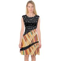 Knit Jersey Fabric Womens Casual Summer Dresses A Line Midi Dress For Holiday