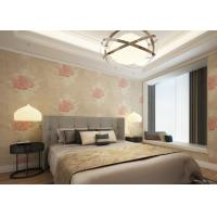 Buy cheap Waterproof Apricot Rustic Style House Decoration Wallpaper with Floral Pattern product