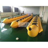China Yellow 8 Seats Inflatable Toy Boat Water Game Banana Boat Inflatable Water Toy wholesale