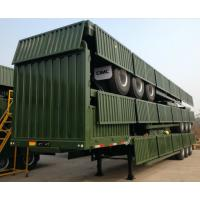 Buy cheap 60 Tons High Sidewall Cargo Container Trailer 6 Tyre 12 Tyre Container Semi Trailer product