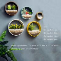 Buy cheap Creative Wall Vases Metal Iron Art Modern Artificial Flower Basket Plant Holder Hanging Wall Vases for Living Room Decor product