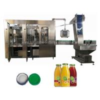 Buy cheap CE ISO Glass Bottle Filling Machine , Automatic Industrial Juice Making Machine from wholesalers