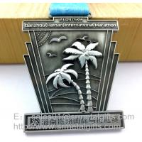 China Custom antique nickel metal medals and medallions, China factory customized sports medals, wholesale