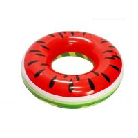 PVC Watermelon Inflatable Swim Ring Pool Float  46 X 46 X 10 Quick Inflation