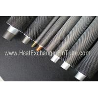 B338 Gr. 2 SMLS Titanium Tube , Spiral Aluminum Extruded Fin Tube 1.245mmWT