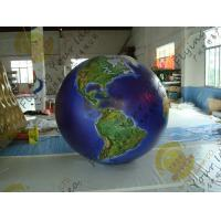 Quality Waterproof Earth Balloons Globe , Large Inflatable Advertising Balloons for sale