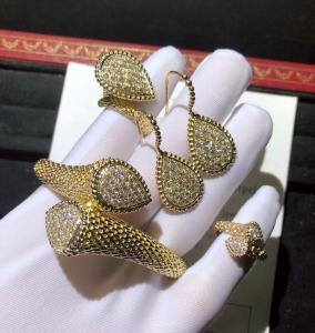 Buy cheap  18K Gold Diamond Bracelet / Ring / Earrings For Wedding Anniversary product