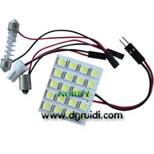 Buy cheap Led Reading Light Led dome led interior bulb led 20pcs 5050 SMD 3W car top lighting product