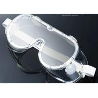 China PVC / PC Anti Fog Protective Goggles Water Resistant Eyeglasses Wearable on sale