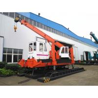 Buy cheap 120 Ton Pile Driver Machine For Concrete Pile , Orange Mini Piling Machine product
