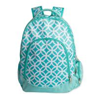 Green Kids School Book Bags / Laptop School Bags For High School Students for sale