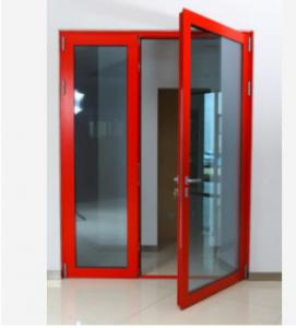 Buy cheap Thermal Break Aluminum Swing Doors Outward Swinging French Double Tempered Glass product