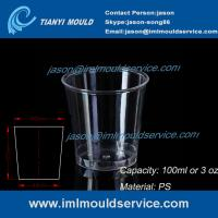 clear 100ml thin wall PS plastic disposable drinking cups mould manufacturers