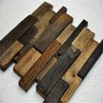 Buy cheap Old Ship Wood Mosaic Wall Panels , Mixed Color Wood Mosaic Tile For Shop product