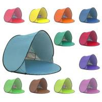 Buy cheap 220 * 120cm Foldable Outdoor Camping Tent , Pop Up Beach Tent For Sun Shelter product