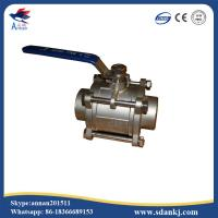 Buy cheap stainless steel 304 high quality 3pcs threaded type ball valve for water gas oil from wholesalers