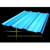 Long Span Color Coated Metal Corrugated Roofing Sheets / PPGI Roof Steel Panels