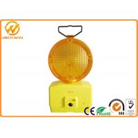 1000M Visible Amber Emergency Flashing LED Traffic Warning Lights with Two 4R25 Battery 185 * 95 * 340 mm