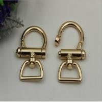 Buy cheap Fashion high quality zinc alloy light gold 25 mm metal spring snap hook for lanyard product