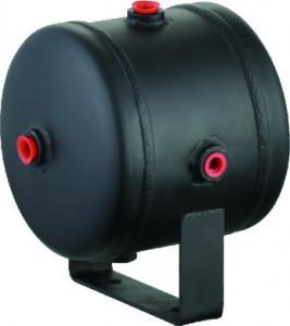 Buy cheap Black Steel Horizontal Air Comressor Tank For Air Horn Tires , 0.5 Gallon air tank product