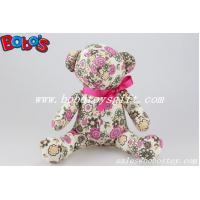 Buy cheap Flower Printing Fabric Fanishon Design Stuffed Teddy Bear As Anniversary Gifts product
