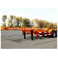 Buy cheap 3 Axles 20 / 40foot flatbed trailer / skeletal trailer with 12 pcs container twist , flatbed truck trailers product