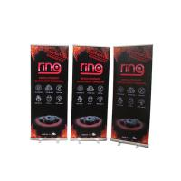 Buy cheap Floor Standing Roll Up Banner Display Vertical Easy Carry Professional Artwork product